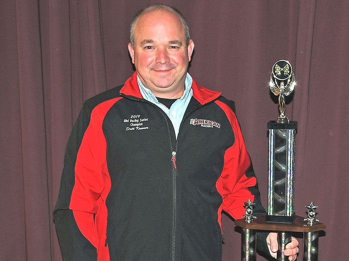 Winning his third series title, Scott Koerner was this year's Illinois Racing Series midget champion. (Stan Kalwasinski Photo)