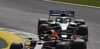 Max Verstappen (33) on his way to victory Sunday in Brazil. (Steve Etherington Photo)