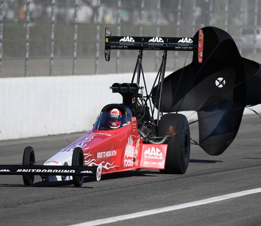 Doug Kalitta took home the Top Fuel Wally Sunday at Auto Club Raceway at Pomona. (NHRA Photo)