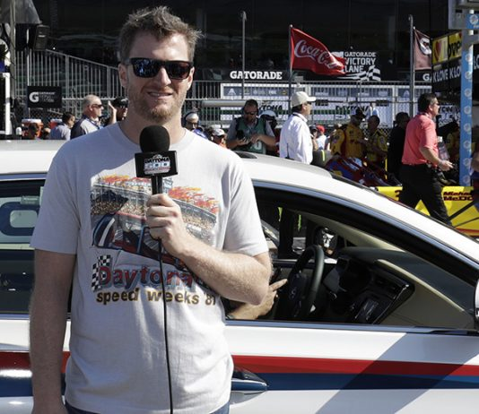 Dale Earnhardt Jr. will serve as the honorary starter of the 62nd Daytona 500 in February. (HHP/Harold Hinson Photo)