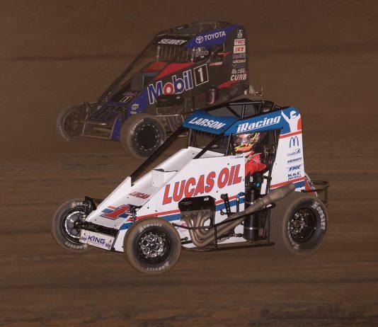 Larson Wins & Takes