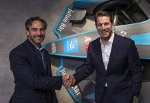 (From left) Jamie Reigle, Chief Executive Officer of Formula E, stood alongside Marco Parroni, Head of Global Sponsoring and Partnerships at Julius Baer and member of the Formula E Global Advisory Board.