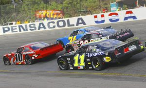 Drivers battle for position during the Snowball Derby several years ago. (Chris Owens Photo)
