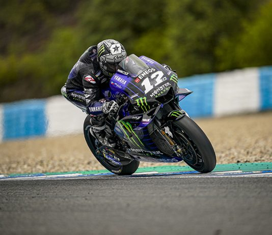 Maverick Viñales during testing Monday at Circuito de Jerez. (MotoGP Photo)
