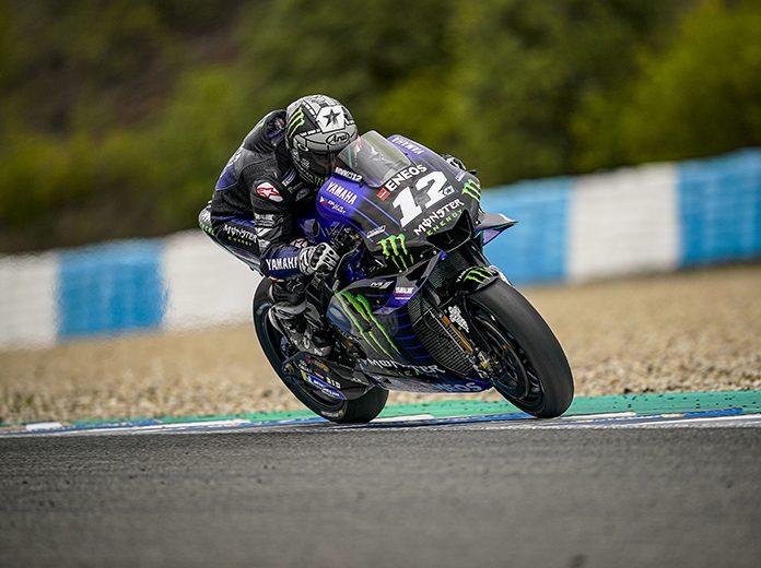 Maverick Viñales during testing Monday at Circuito de Jerez. (MotoGP Photo)