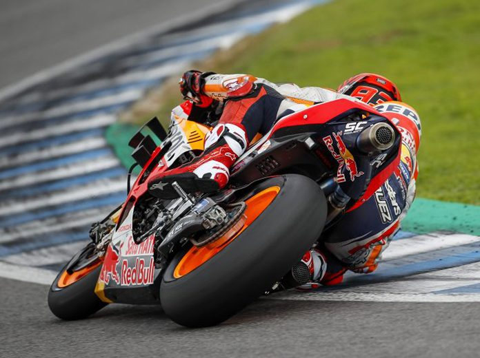 Marc Marquez topped the second day of testing Tuesday in Jerez, Spain. (Honda Photo)