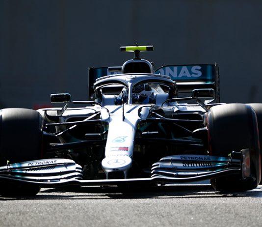Valtteri Bottas was fastest in Formula One practice on Friday in Abu Dhabi. (Mercedes Photo)