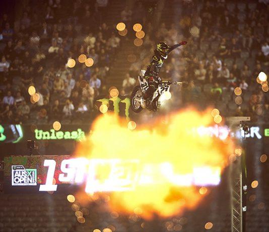 Jason Anderson claimed the Monster Energy S-X Open International FIM Oceania Supercross Championship. (Brett Hemmings Photo)
