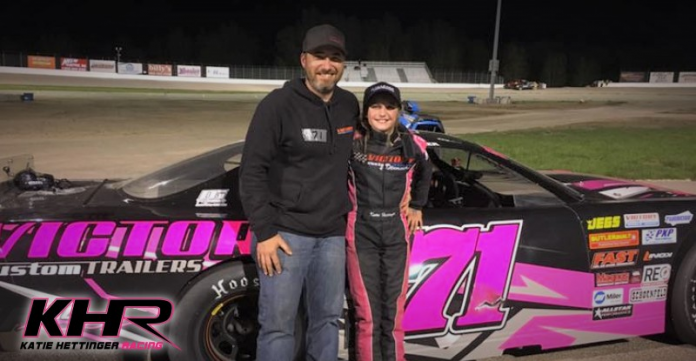 Katie Hettinger will be back for a second season in the Victory Custom Trailers CRA Junior Late Model Series.