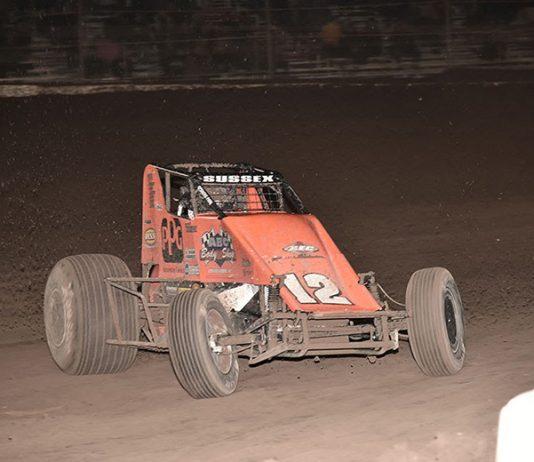 Stevie Sussex in action Sunday at Arizona Speedway. (Ben Thrasher Photo)