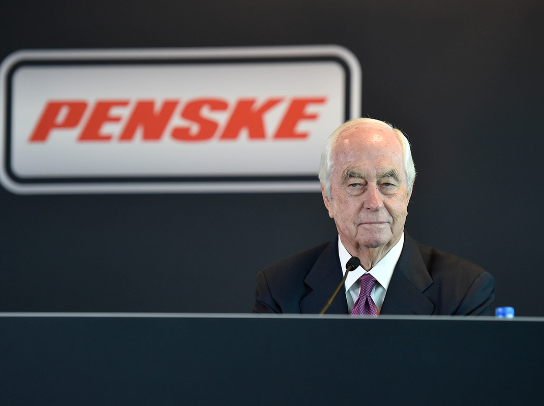 Roger Penske at Indianapolis Motor Speedway. (IMS Photo)