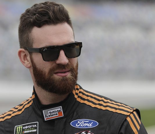 Corey LaJoie will remain with Go Fas Racing in 2020. (HHP/Harold Hinson Photo)