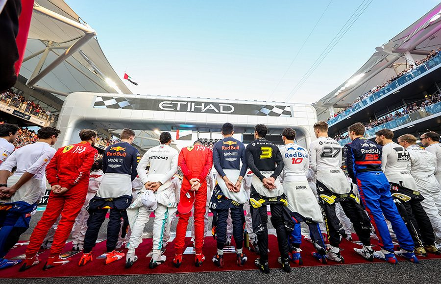 Formula One drivers prepare to go racing prior to Sunday's Abu Dhabi Grand Prix. (Red Bull Photo)