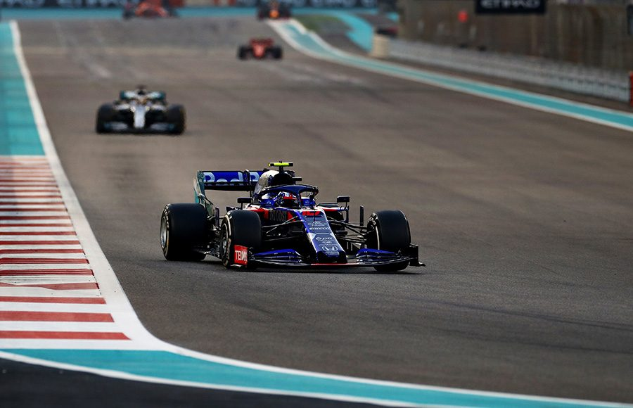 Pierre Gasly speeds down a straightaway during Sunday's Abu Dhabi Grand Prix. (Red Bull Photo)