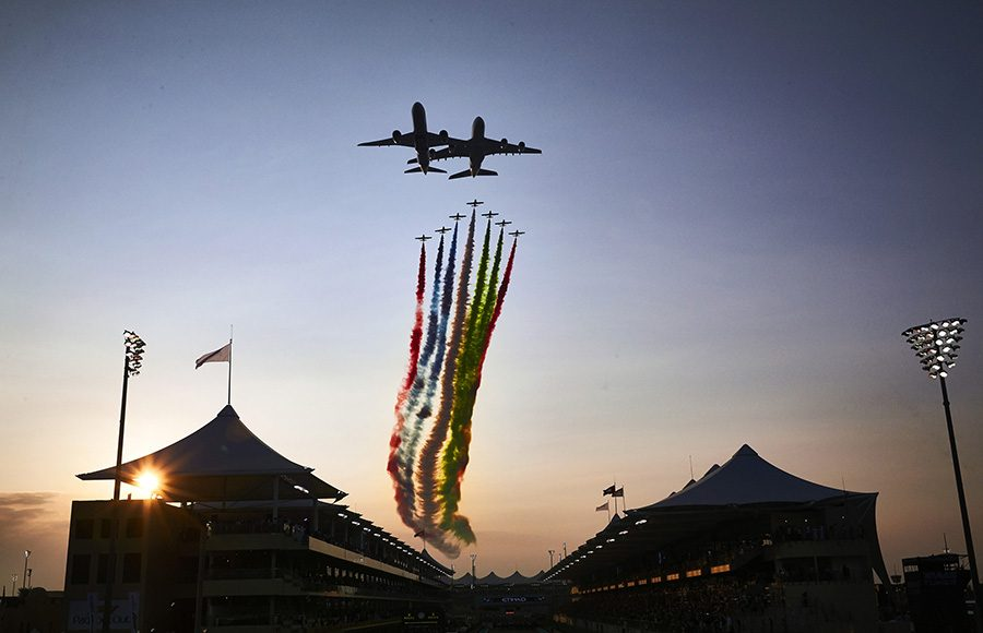 Pre-race festivities prior to Sunday's Abu Dhabi Grand Prix. (Steve Etherington Photo)