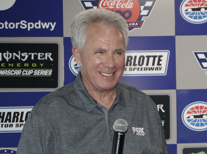 Darrell Waltrip, shown here in May, was named the winner of the NMPA Myers Brothers Award on Thursday. (HHP/Harold Hinson Photo)