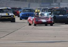 Racing began Thursday during the HSR Sebring Historics at Sebring Int'l Raceway.