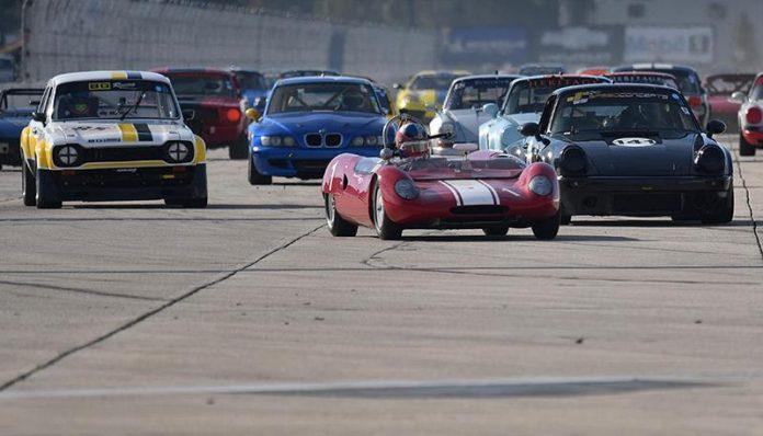 Racing began Thursday during the HSR Sebring Historics at Sebring Int'l Raceway.