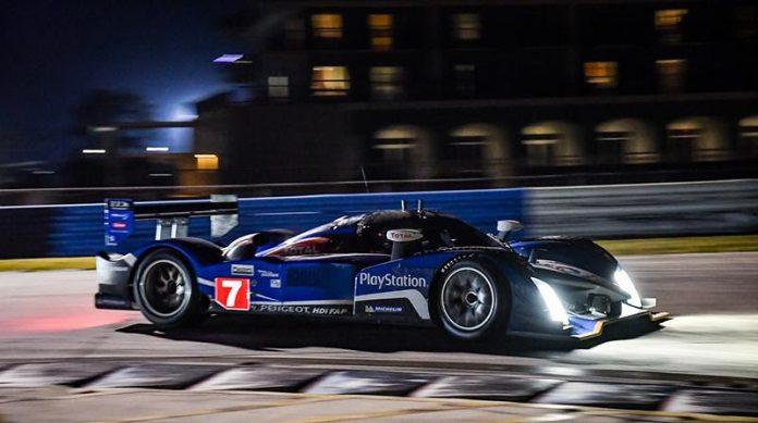 The HSR Classic Sebring 12 Hour hit the halfway mark early Saturday night.