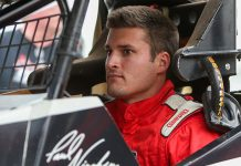 Paul Nienhiser will drive for Jim Neuman during the Chili Bowl in January. (Adam Fenwick Photo)