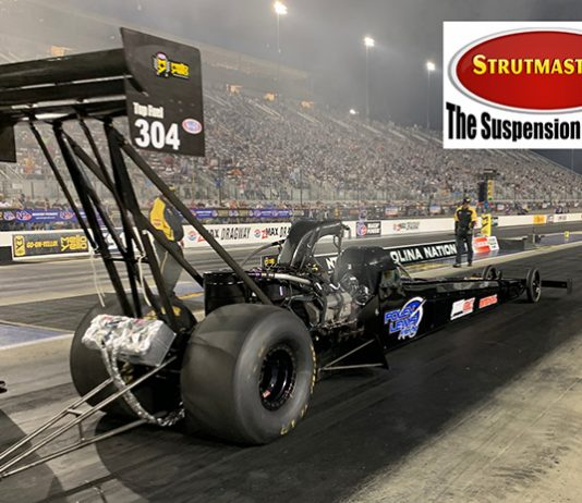Strutmasters will support Foley Lewis Racing during the upcoming NHRA season.