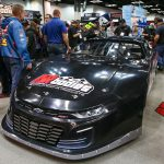 AR Bodies introduced the Revolution Camaro late model body on Thursday during the PRI Trade Show in Indianapolis. (Adam Fenwick Photo)