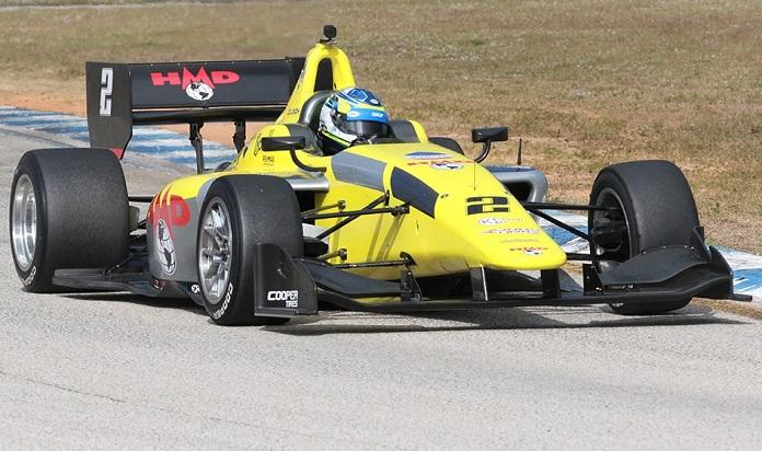 Rasmus Lindh Tops Sebring Indy Lights Testing