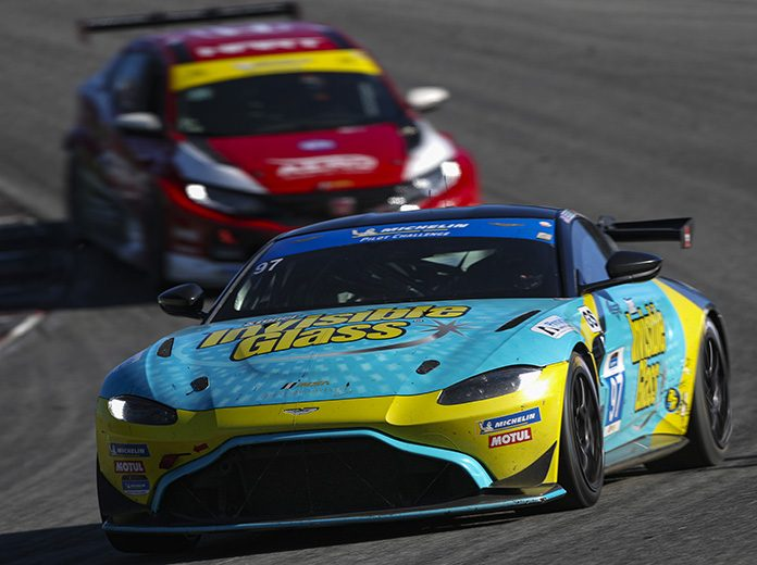 Gary Ferrera and Kris Wilson will be back in the Invisible Glass Aston Martin in 2020. (IMSA Photo)