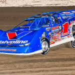 Brandon Sheppard was fastest during hot laps for the World of Outlaws Morton Buildings Late Model Series on Thursday at Vado Speedway Park. (Jim Adams Photo)
