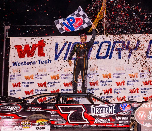 Ricky Weiss in victory lane. (James Racing Photography photo)