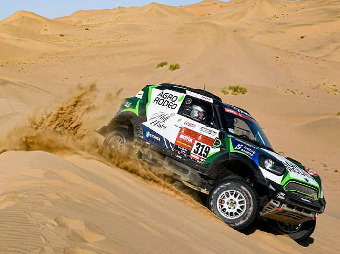 Vaidotas Zala won the opening stage of the Dakar Rally in Saudi Arabia on Sunday. (Dakar Rally Photo)