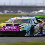 The GEAR Racing powered by GRT Grasser Lamborghini Huracan GT3 entry was one of several Lamborghini entries penalized by IMSA. (IMSA Photo)