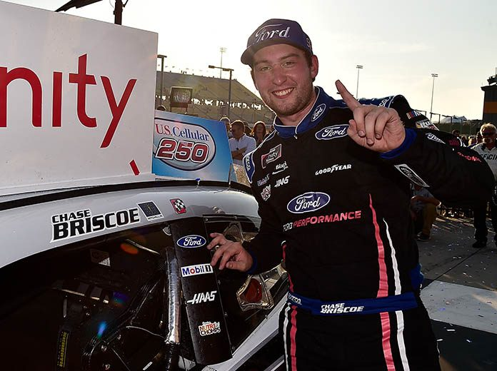 Chase Briscoe will continue to drive for Stewart-Haas Racing in the NASCAR Xfinity Series next year. (NASCAR Photo)