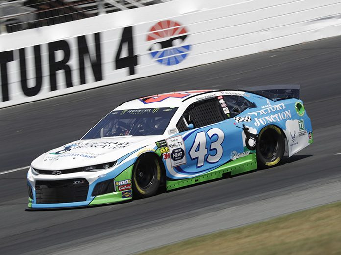 Bubba Wallace will have a new crew chief when the NASCAR Cup Series season begins next month. (HHP/Harold Hinson Photo)