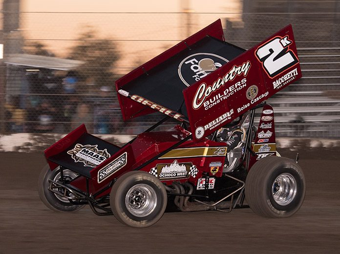 Kyle Offill will contest the entire King of the West sprint car schedule this year. (Devin Mayo Photo)