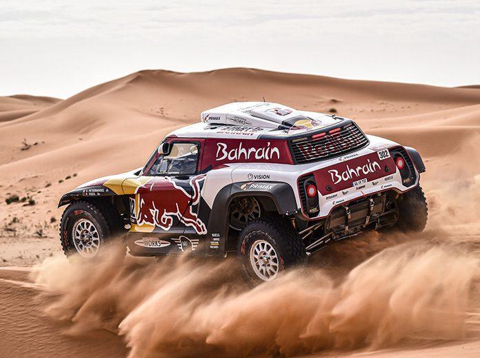 Stephane Peterhansel raced to victory in Friday's Dakar Rally stage. (Dakar Rally Photo)