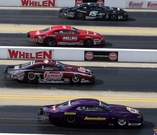 NHRA Pro Stock Four-Wide zMAX HHP/Tami Pope Photo)