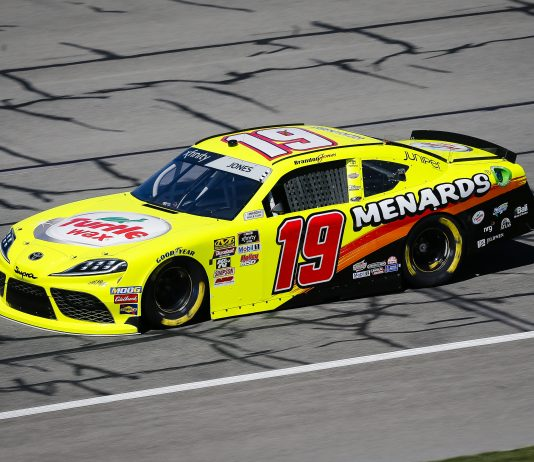 Menards will continue to sponsor Brandon Jones and Joe Gibbs Racing in the NASCAR Xfinity Series. (HHP/Barry Cantrell Photo)