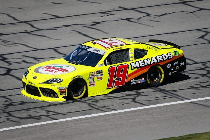 Menards will continue to sponsor Brandon Jones and Joe Gibbs Racing in the NASCAR Xfinity Series. (HHP/Barry Cantrell Photo)
