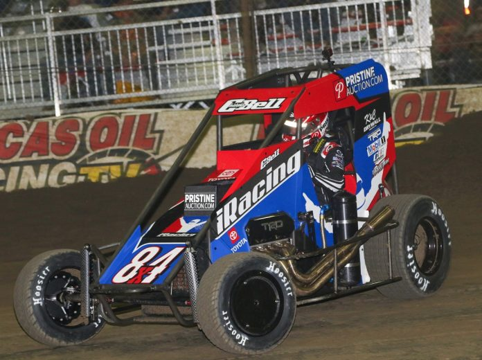 Christopher Bell won Tuesday's Vacuworx Invitational Race of Champions. (Brendon Bauman photo)