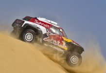 Carlos Sainz in stage 10 of the Dakar Rally. (Dakar Rally photo)