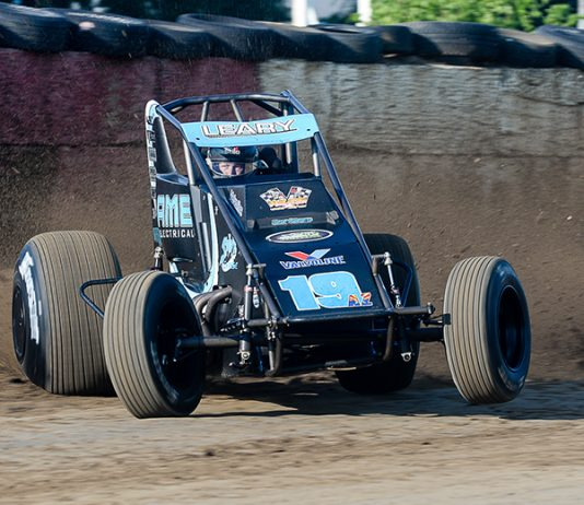 C.J. Leary has been named the North American Non-Winged Sprint Car Poll driver of the year. (John DaDalt Photo)