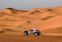 Stephane Peterhansel during Thursday's Dakar Rally stage. (Dakar Rally Photo)