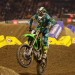 Eli Tomac en route to victory inside Angel Stadium at Anaheim. (Mark Munoz photo)
