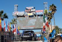 Casey Mears at the Baja starting line (Tom Blatter Photo)