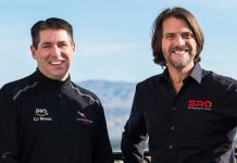 (From left) C.J. Moses, AWS Deputy CISO and Stephane Ratel, SRO Motorsports Group Founder & CEO.