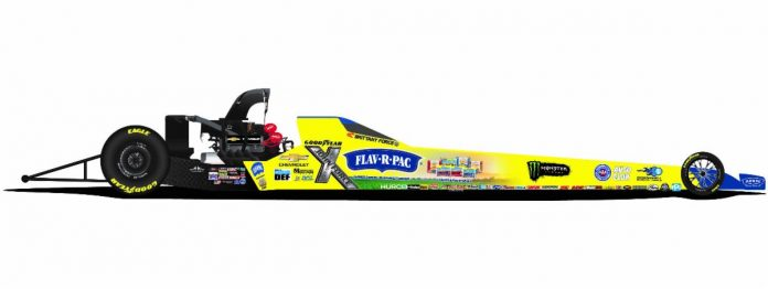 Flav-R-Pac will sponsor Brittany Force during the upcoming NHRA Mello Yello Drag Racing Series season.