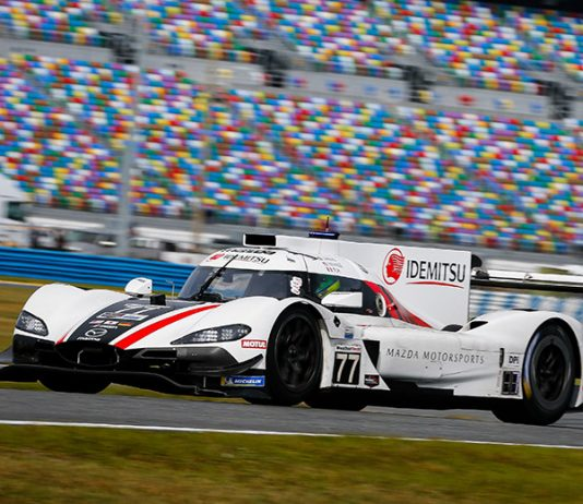 Oliver Jarvis put Mazda on the pole for the Rolex 24 for the second-straight season. (IMSA Photo)