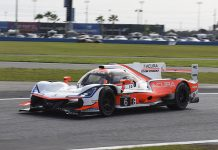 The No. 6 Acura Team Penske entry was the leader at the four hour mark of the Rolex 24. (IMSA Photo)