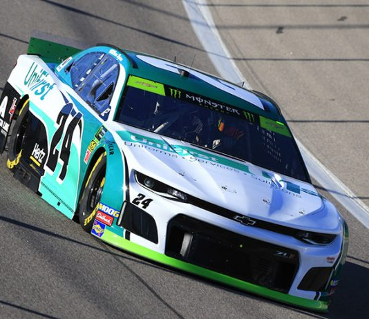 UniFirst will move its sponsorship from William Byron's No. 24 entry to Chase Elliott's No. 9 entry this year. (HHP/Jim Fluharty Photo)